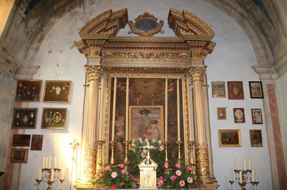 quadro madonna con bambino Oratorio S.Maria vergine chiesa Aramo percorsi storici Birindelli Pescia