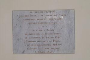 lapide trittico della Robbia cattedrale Pescia