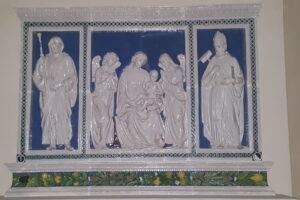 primo piano Trittico della Robbia Cattedrale Pescia