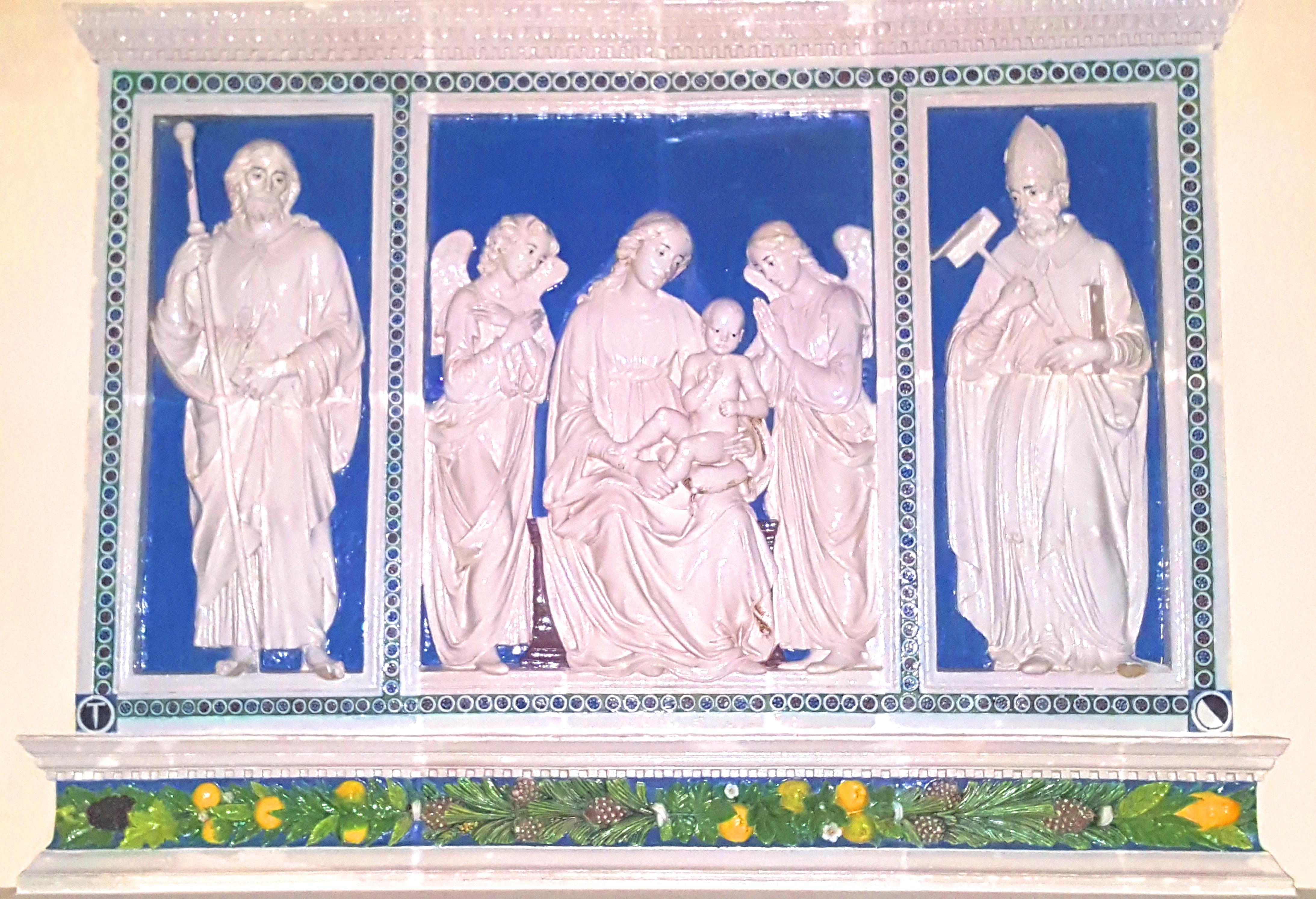 trittico della robbia porcellana invetriata cattedrale pescia