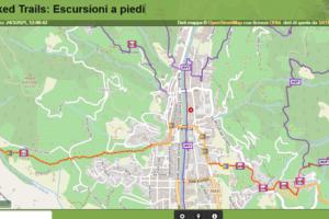 waymarked trails escursioni trekking camminate bici bike pescia